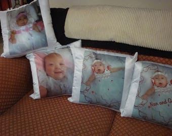 Personalised Photo Silk Feel Cushion 35 x 35 cm