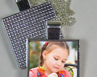 Personalised Photo Square Pendant Personalised Gifts