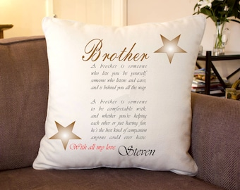 Personalised Verse Silk Feel Cushion 35 x 35 cm Personalised Gifts