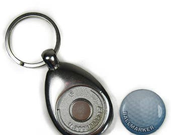 Personalised Key Ring Golf Peg Included Metal