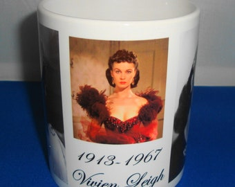Vivien Leigh Ceramic Mug a perfect gift for Him or Her, Film Star
