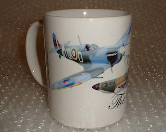 Spitfire Plane Mug Personalised Mugs