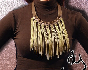CROCHET Statement Necklace. From our ARMY COLLECTION