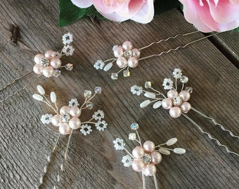 Clothing, Shoes & Accessories Chiffon Net Hair Flower Cream Pearl Centre Cluster Moderate Cost Hair Accessories