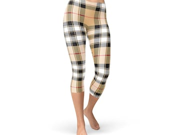 b2d9fd768 Pride of Scotland Capri Leggings - Gold Tartan Capris