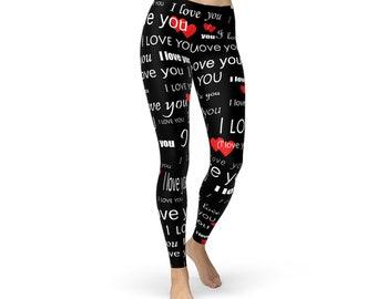 I Fucking Love You All-Over Print Plus Size Leggings