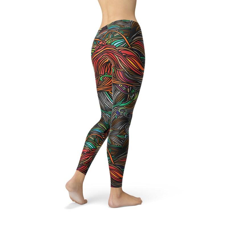 f4af246f6d797 Colorful Spirals Yoga Leggings Patterned Women Leggings | Etsy