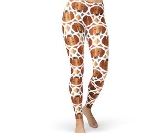 Doxie Dachshund Tights - Women's Dachshund Tights, Doxie Tights, Weiner Dog Tights, Dachshund Leggings, Dachshund Yoga Pants