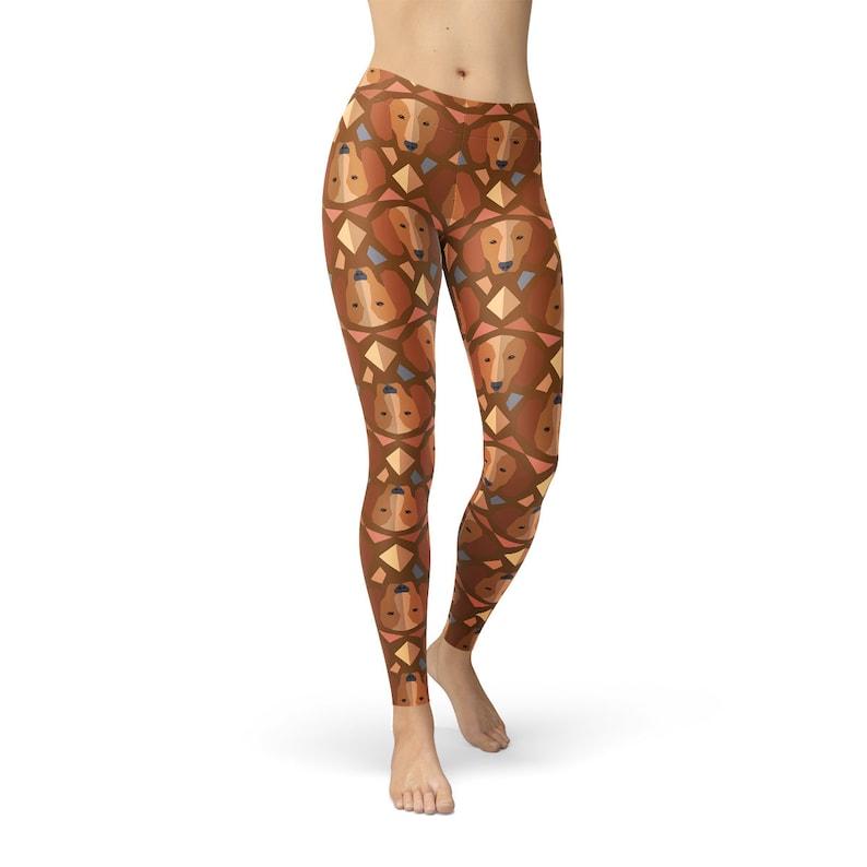 b0fb7b1c8bfcc Doxie Dachshund Leggings Women's Dachshund Leggings   Etsy