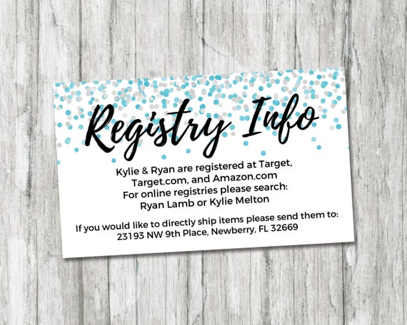 Baby Shower Registry Card Its A Boy Baby Shower Etsy