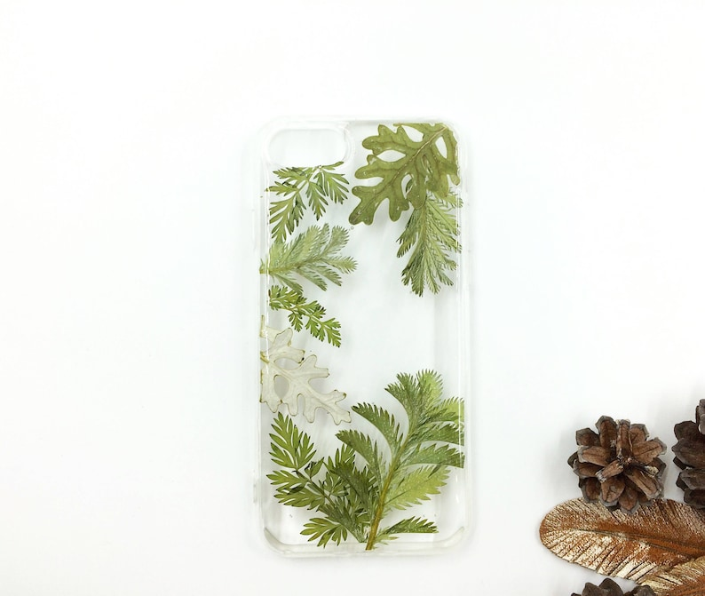 promo code d194b c1d04 iPhone XS Green Plant Phone Case Pressed Leaf Phone Case Greenery IPhone 8  Clear Pressed Plant Gift Mom Galaxy 9 Note Leaves Pressed Greens