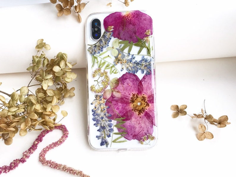 the best attitude e59f2 00985 Pink Phone Case iPhone 8 Case X iPhone Galaxy Real Flower iPhone 7 Case  Pressed flower case iPhone 8 Case Floral Case Bumper iPhone 8 Plus