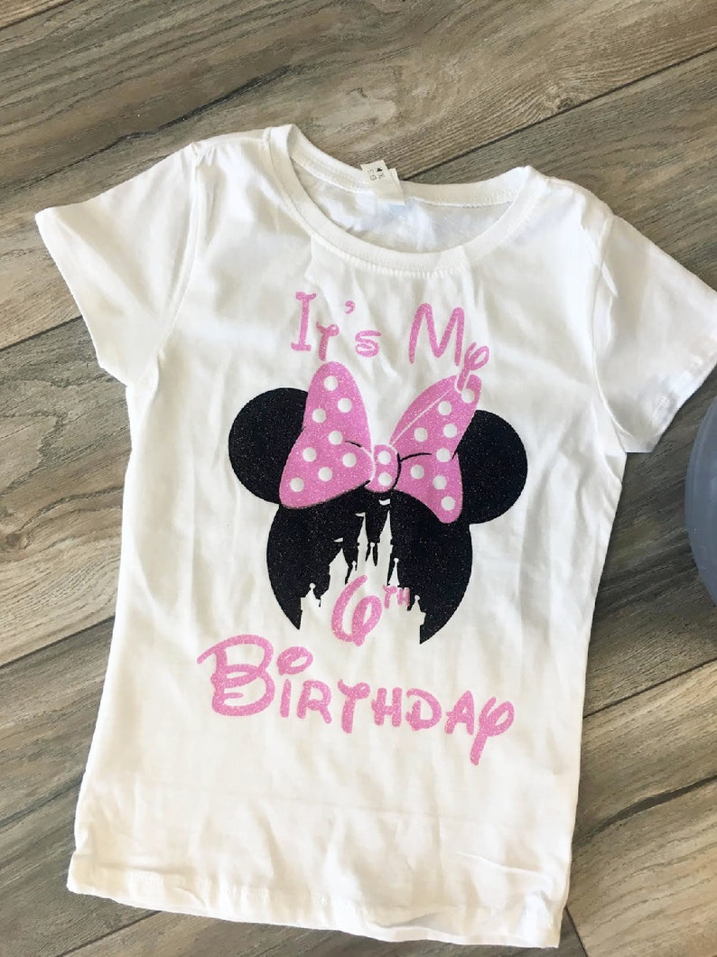 Disney Birthday Shirts Pink Shirt Custom
