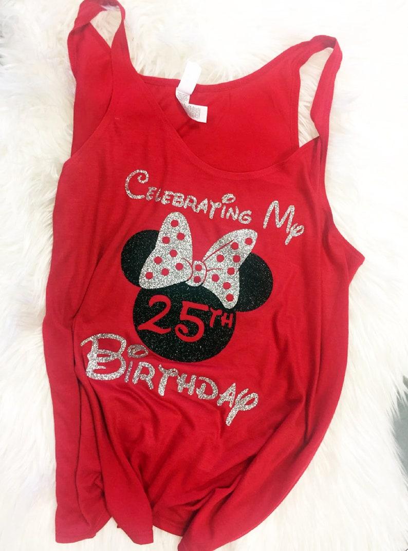 Disney Birthday Shirts Personalized Minnie Shirt Custom Celebrating My At Glitter Bow