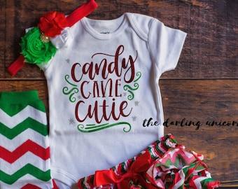 6f7c3b49c Christmas Cutie infant girl bodysuit baby girl bodysuit