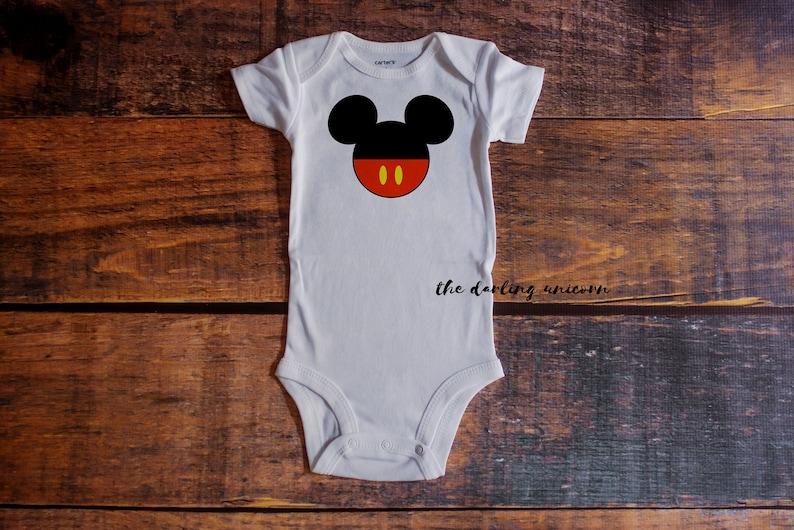 aee9675e4 Mickey Mouse infant boy bodysuit baby boy t-shirt birthday   Etsy