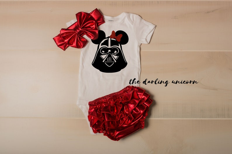 b8ef4aaae Darth Vader baby girl outfit infant bodysuit star wars