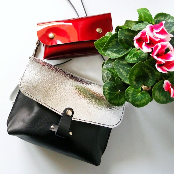 Black Friday Sale 25 Silver Crossbody Bag Crossbody Leather Etsy