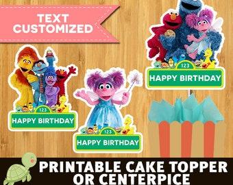 10 Sesame Street  centerpieces - Sesame Street  party supplies- Sesame Street  centerpieces - Sesame Street birthday