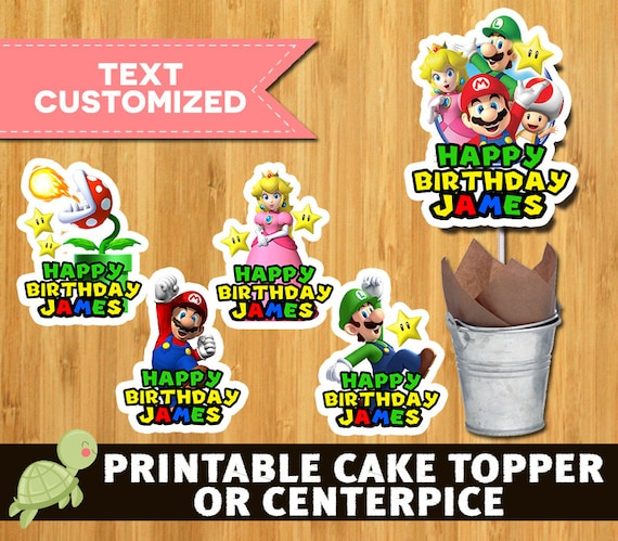 12 Super Mario Bros Printable Centerpieces
