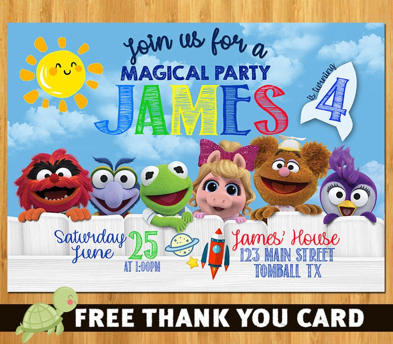 Muppet Babies Invitation Birthday