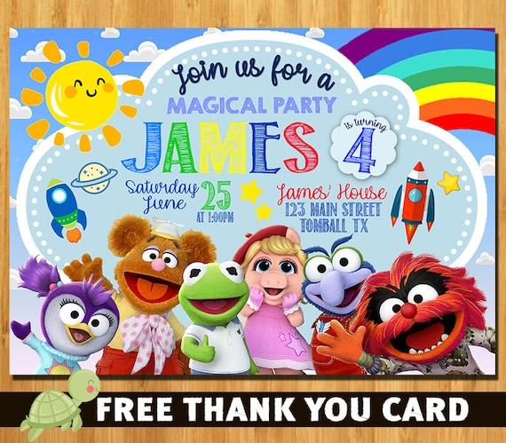 Top 50 Muppets Loc 80: Muppet Babies Invitation Muppet Babies Birthday Invitation