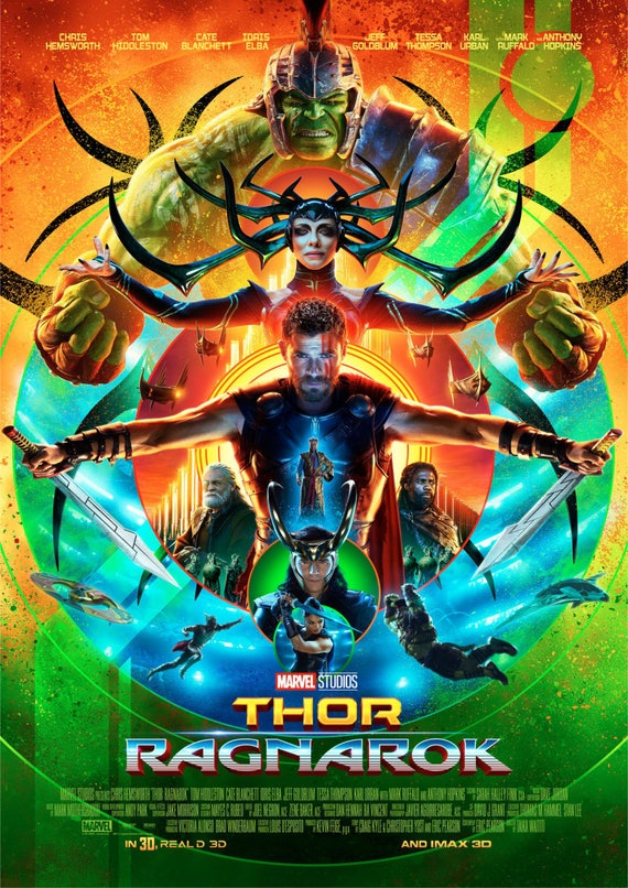 Thor Ragnarok Filmplakat   Etsy