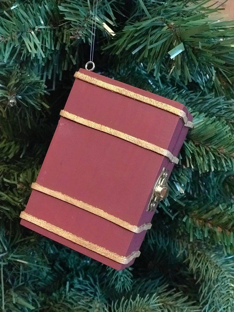School Trunk Inspired Harry Potter Christmas Ornament Etsy