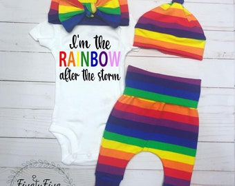 1f24d5f6a Rainbow Baby Outfit*Rainbow Baby Coming Home Outfit*Gender Neutral Baby  Going Home Outfit*Rainbow Outfit*Coming Home Outfit*Going Home*