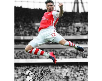 2257eea75 Olivier Giroud pre signed photo print poster - 12x8 inches (30cm x 20cm) -  Superb quality - N.0 2