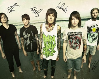 Oli Sykes Bring Me The Horizon Autographed Signed A4 Print Poster Photo Music cd