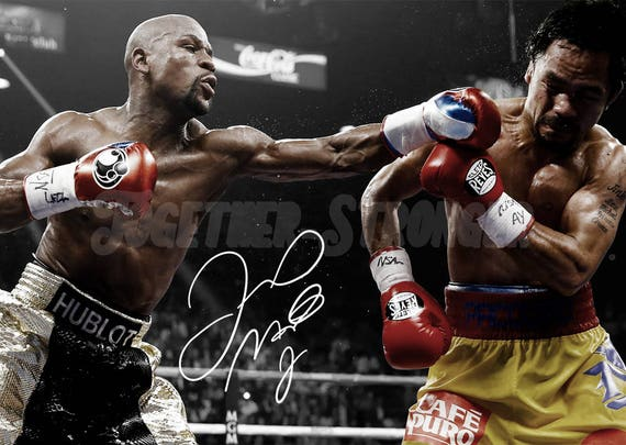 Floyd Mayweather pre signed photo print poster 12x8 inches (30cm x 20cm) Superb quality