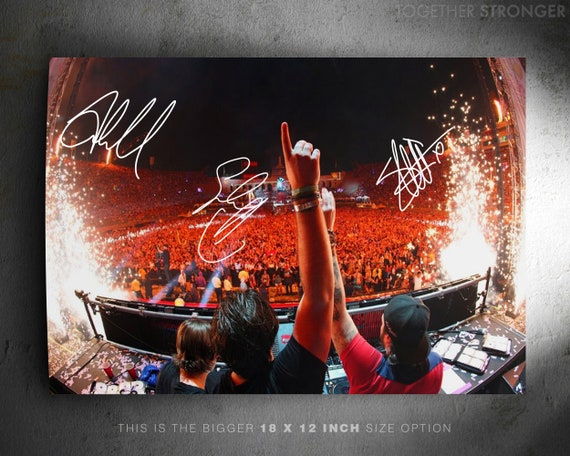 Axwell Superb Quality Swedish House Mafia photo print poster pre signed