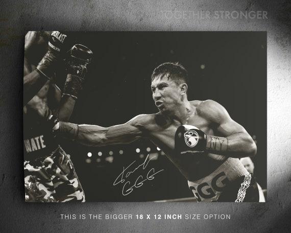 Gennady Golovkin photo print poster Triple G GGG pre signed