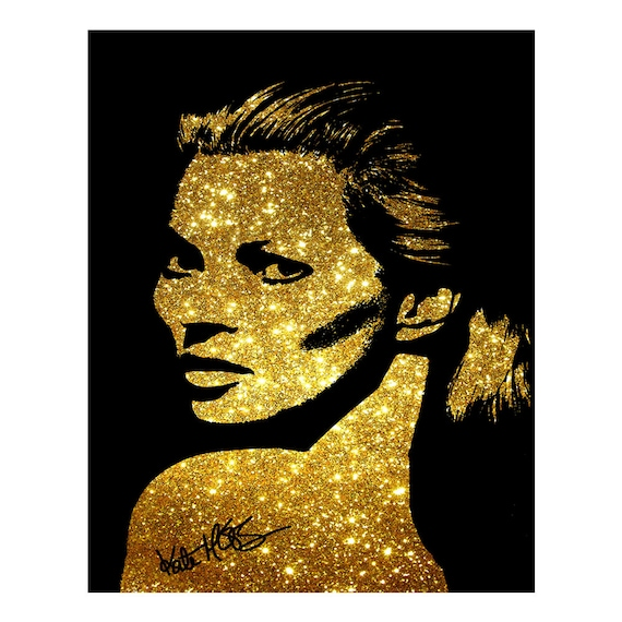 Kate Moss photo print poster Pre signed Superb Quality