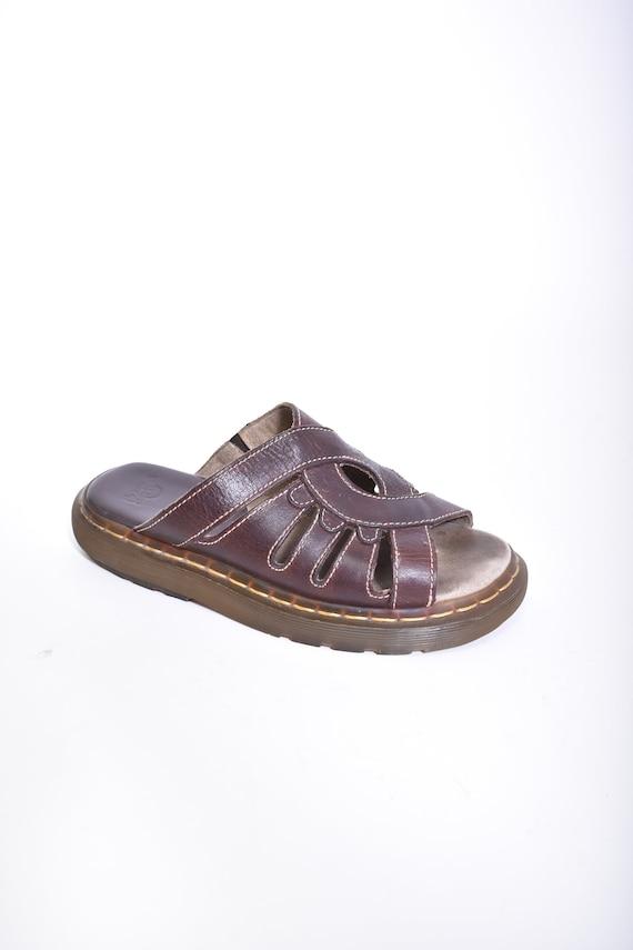 vintage brown DR MARTENS slide sandals women's 7
