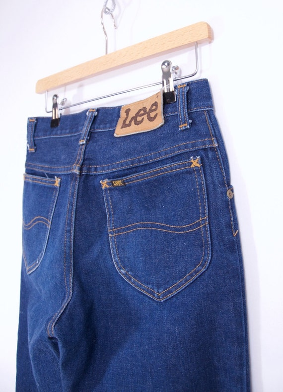 perfect vintage 70s LEE JEANS boot cut dark wash jeans 70s clothing women's 28 vintage jeans