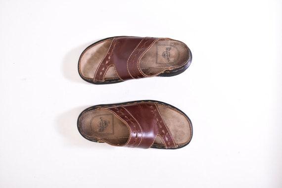vintage brown DR MARTENS slide sandals 7