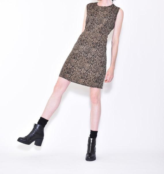 90s vintage LEOPARD print sleeveless dress