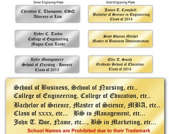 Upgrade Engraving Plate our University Diploma Frames