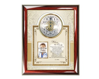 I Love You Poetry Clock Frame Gift for Girlfriend Wife Boyfriend Husband Romantic Birthday Anniversary Love Poem Present Clock