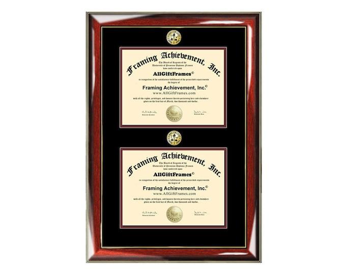 Graduation Dual Degree Diploma Frame University Major Logo Framing Certificate Document Seal 2 Graduate Document Certification License