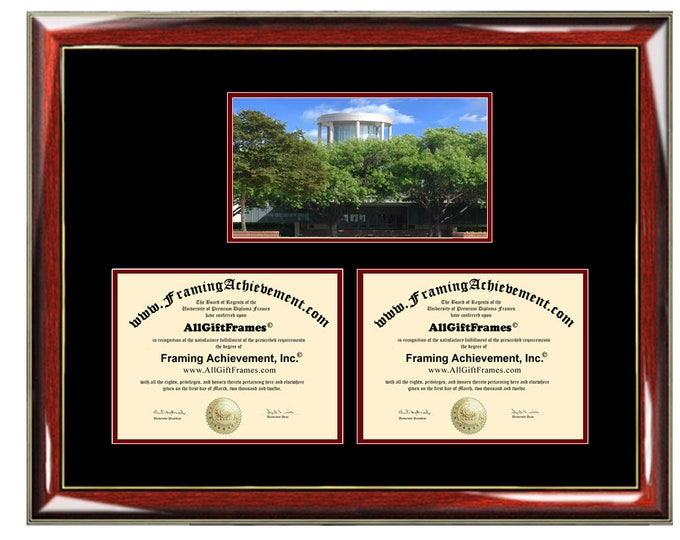 Biola University Double Diploma Frame Campus Dual Certificate Two Degree Framing Holder Case 2 Graduation Graduate Gift College Holder
