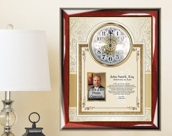 Law School Graduation Gift Frame New Lawyer Poetry Clock Attorney Graduate Congratulation Present Poem Picture Frame