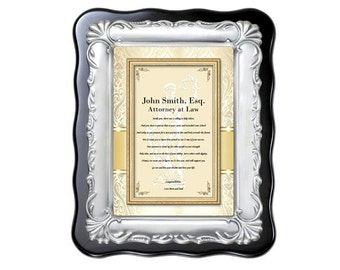 Personalized Law School Graduation Gift for Attorney Lawyer Congratulation Plaque Passing Bar College of Law University Present