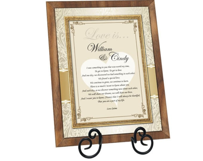 Personalized Love Poem Gift Walnut Plaque For Wife Husband Boyfriend Girlfriend Birthday Romantic Personalized I Love You Poetry