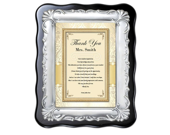 Teacher Thank You Gift Professor Mentor Educator Present Poetry Plaque Preschool Coach