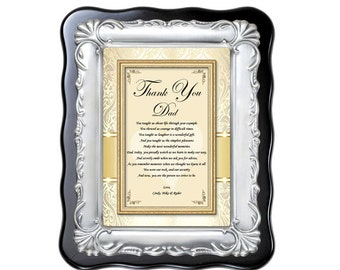 Father Personalize Gift from Bride Birthday Thank You Dad In Law Daughter Poem Christmas Retirement