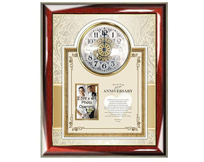 Personalized Poetry Clock Picture Frame Parents Anniversary Gift Congratulation Photo Frame Mother Father Wedding Present