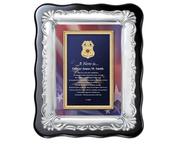 Law Enforcement Gift Policeman Sheriff Present Plaque Love Poem Officer Deputy Poetry Retirement Award Recognition Appreciation